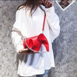 Red Elephant Crossbody Bag